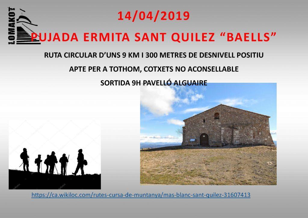 14/04/2019 PUJADA ERMITA SANT QUILEZ