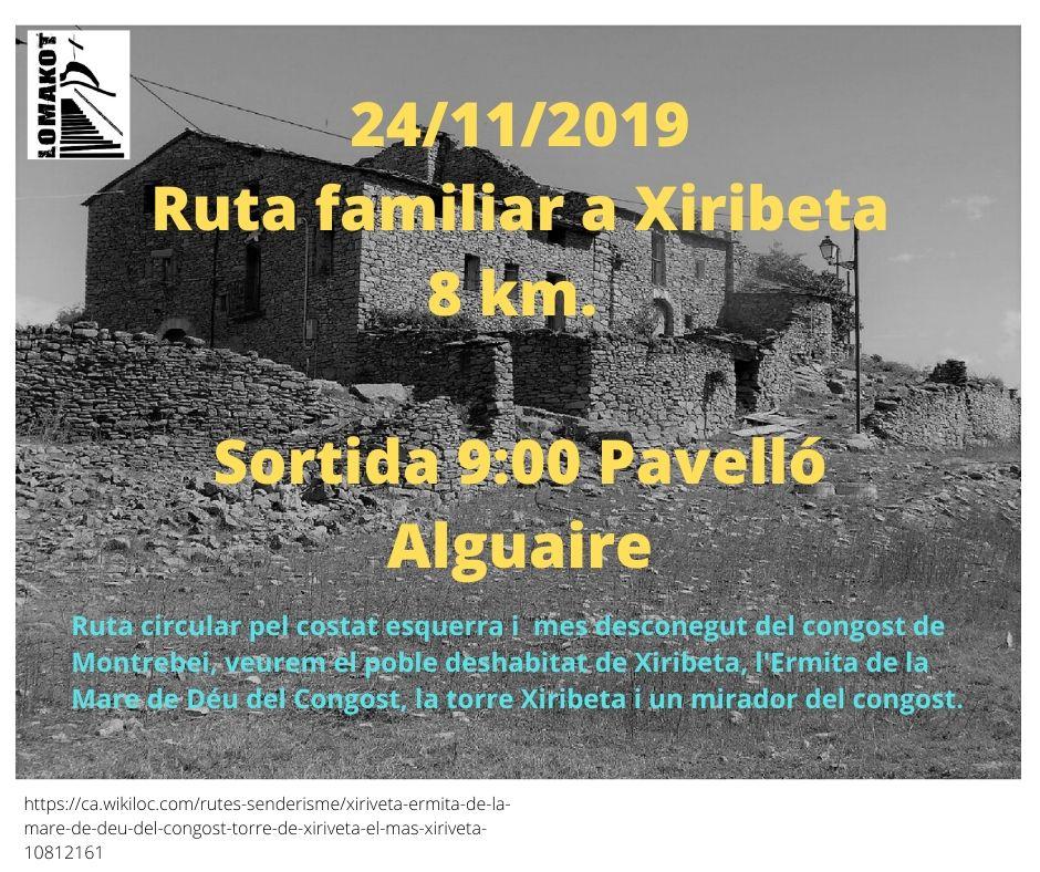 24/11/19 Sortida a Xiriveta